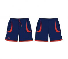 Navy Blue and Red Shorts in UK and Australia