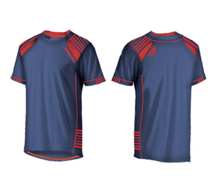 Navy Blue and Red Tee in UK and Australia