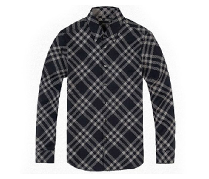Navy Blue and White Designer Check Shirt in UK and Australia