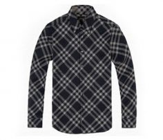 Navy Blue and Cream Check Full Sleeve Shirt in UK and Australia