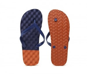 Navy Blue & Flame Flip Flops in UK and Australia