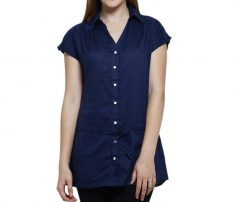 Navy Blue Long Shirt Top in UK and Australia