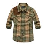 Pastel Green,Cream Check Designer Shirt in UK and Australia