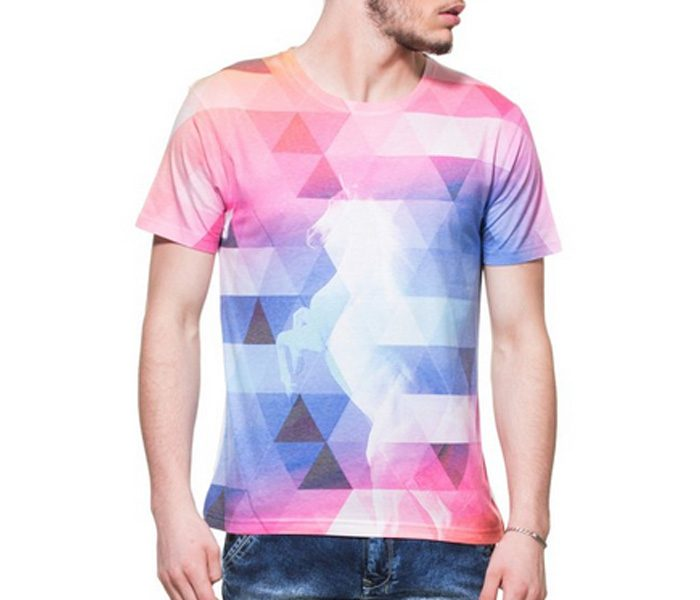 Pink and Blue Diamond Tee in UK and Australia