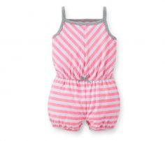 Pink Striped Romper in UK and Australia