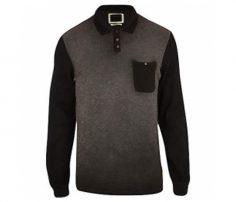 Plain Black Full Sleeve Polo T Shirt in UK and Australia