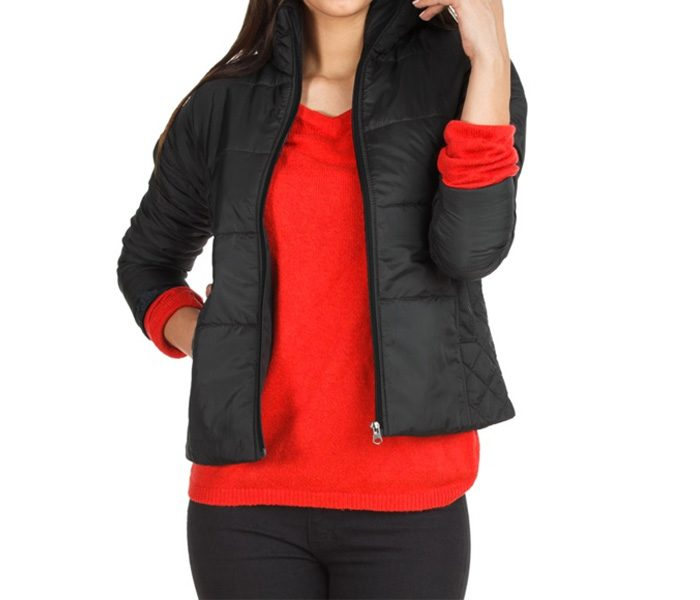 Plain Black Insulated Jacket in UK and Australia