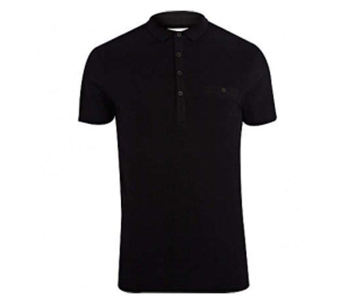 Plain Black Polo T Shirt in UK and Australia