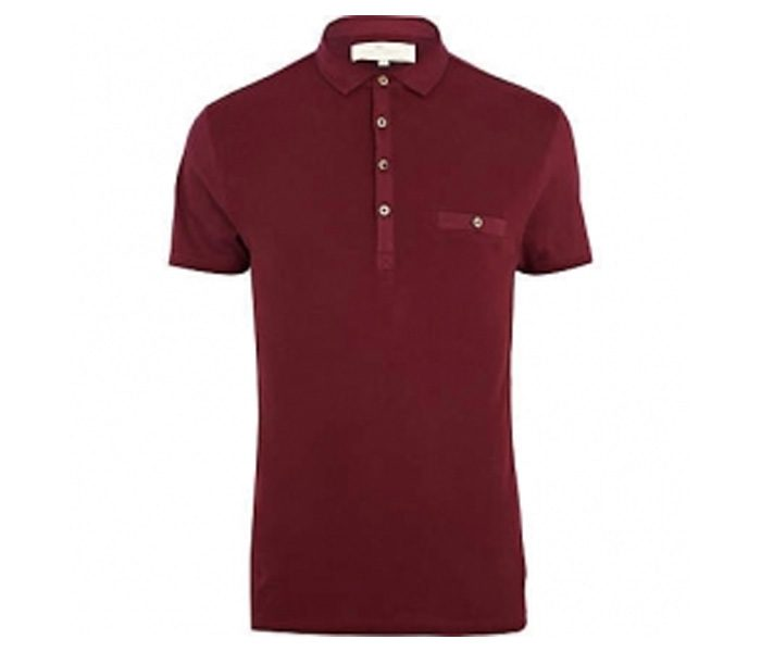Plain Dark Red Polo T Shirt in UK and Australia