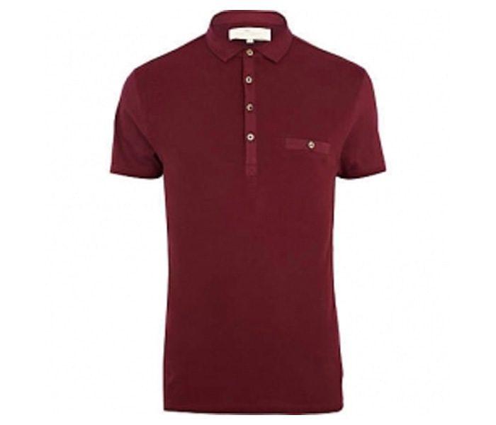 Plain Dark Red Polo T Shirt in UK and Australia
