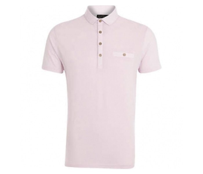 Plain Soft Pink Polo T Shirt in UK and Australia