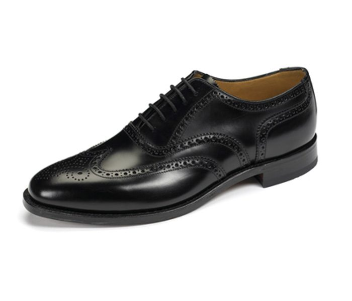 Polished Black Brogue Shoes in UK and Australia