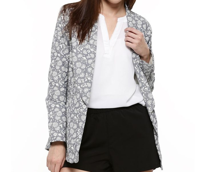 Printed Grey Lifestyle Coat in UK and Australia