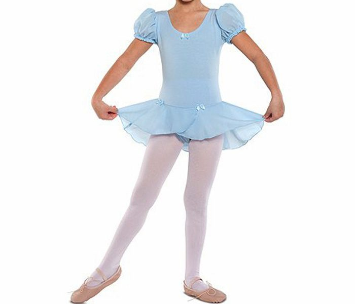 Puffed Sleeve Skirted Leotard in UK and Australia