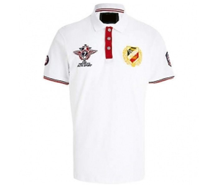 Pure White Emblem Polo T Shirt in UK and Australia
