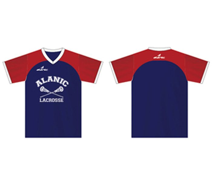 Red and Blue Blocking Tee in UK and Australia