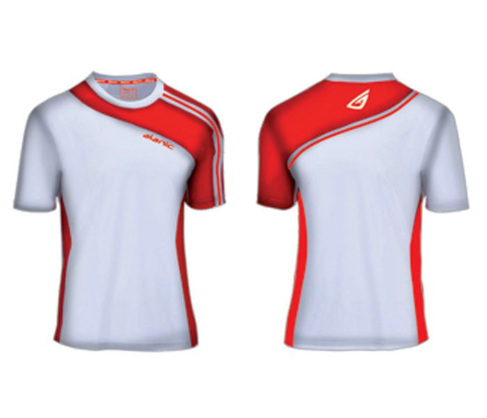 Red and White Soccer Tee in UK and Australia
