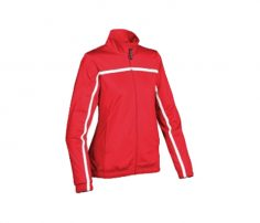 Red and White Stripe Athletic Jacket in UK and Australia