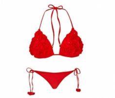 Red Floral Bikini in UK and Australia