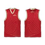 Red printed Australian Football singlet in UK and Australia