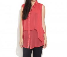 Red Sheer Layered Top in UK and Australia