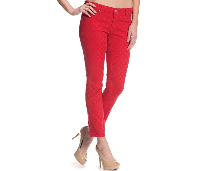 Red Skinny Fit Pants in UK and Australia