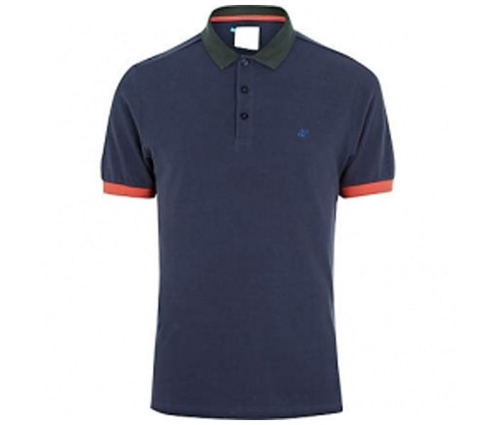 Royal Blue with red piping Polo T Shirt in UK and Australia