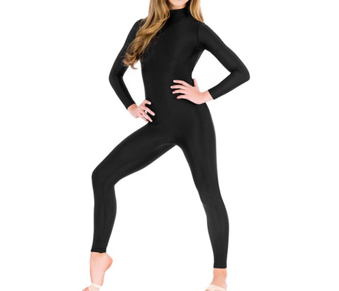 Sleek Black Unitards in UK and Australia