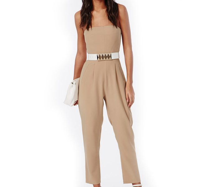 Sleeveless Beige Jumpsuit in UK and Australia