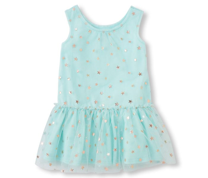 Sleeveless Star Glitter Dress in UK and Australia