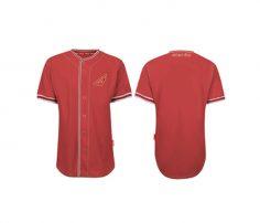 Smart Red Baseball Shirt in UK and Australia