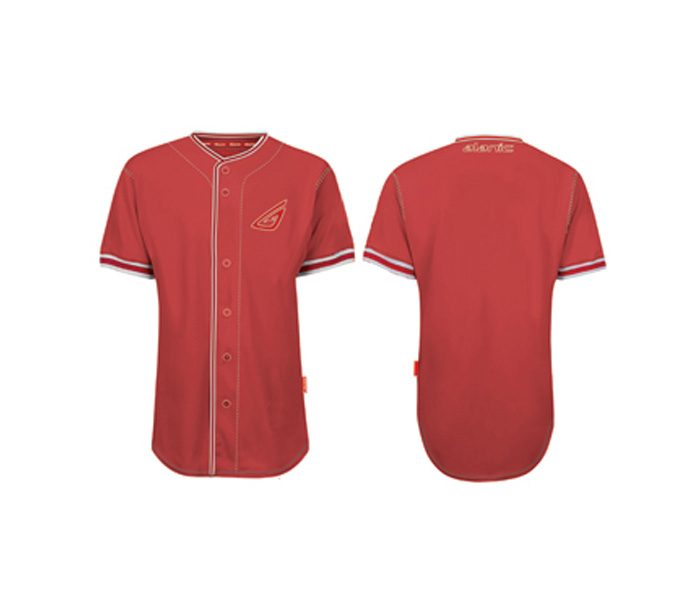 Smart Red Baseball Shirt in UK and Australia