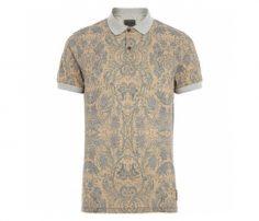 Soft Beige Print Polo T Shirt in UK and Australia