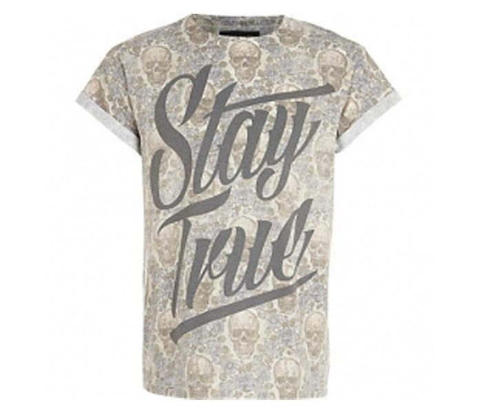 Soft Beige Print Tee in UK and Australia