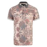 Soft Pink Floral Print Polo T Shirt in UK and Australia