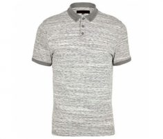 Soft White and Grey Print Polo T Shirt in UK and Australia