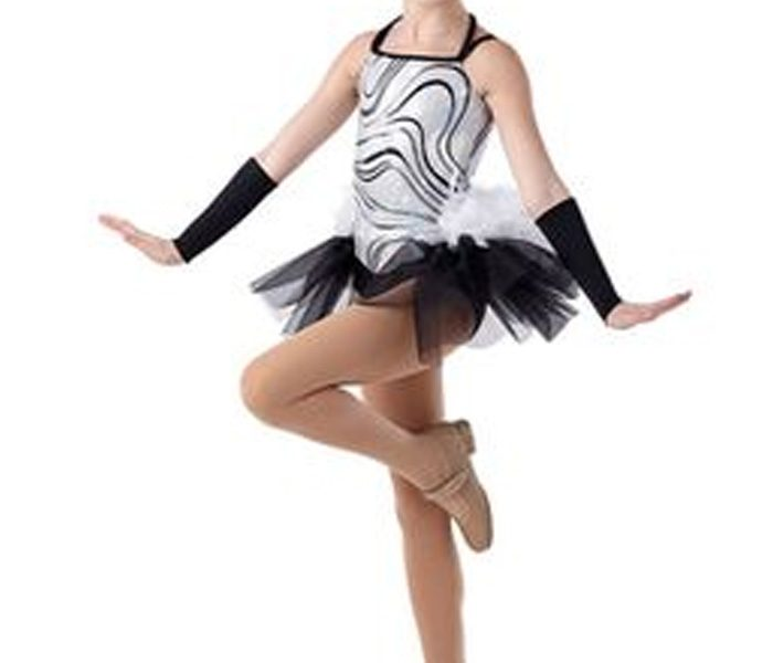 Sparkling Silver Lining and Tutu Black Dance Wear in UK and Australia