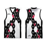 Sporty printed Australian Football singlet in UK and Australia