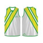 Sporty white and yellow Australian Football singlet in UK and Australia