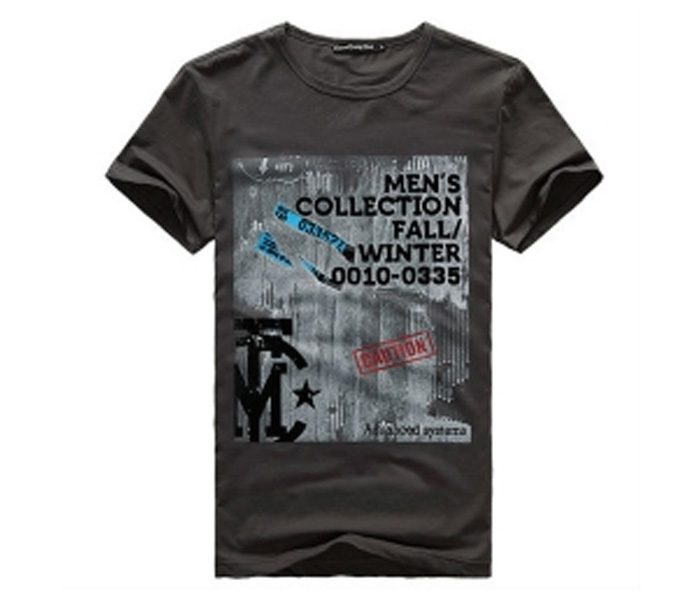 Stone Grey Mens Collection Print Tee in UK and Australia