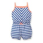 Striped Blue Romper in UK and Australia