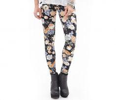Trendy Floral Leggings n Black in UK and Australia