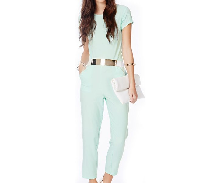 Trendy Green Ankle Length Jumpsuit in UK and Australia