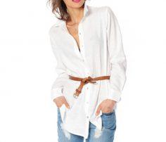 Trendy White Long Shirt in UK and Australia