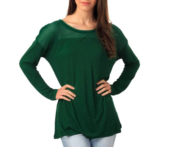 Tropical Green Full Sleeves Top in UK and Australia