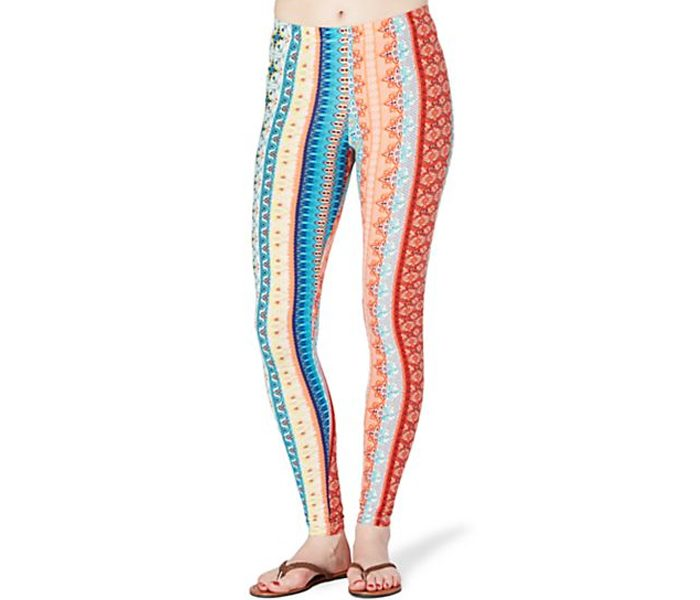 Vertical Multi Print Casual Leggings in UK and Australia