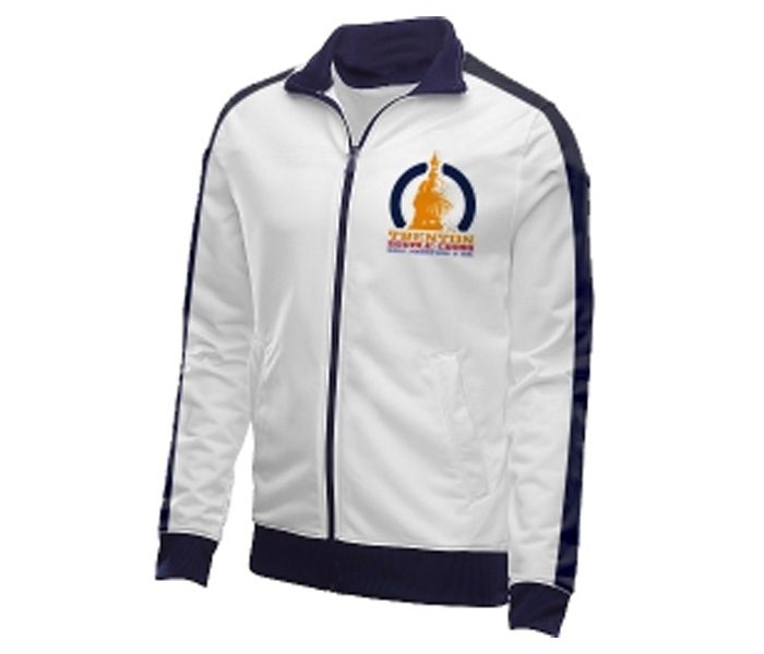 White and Blue Marathon Jacket in UK and Australia