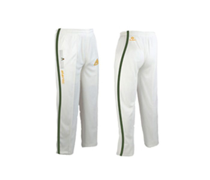 White and Green Cricket Pants in UK and Australia