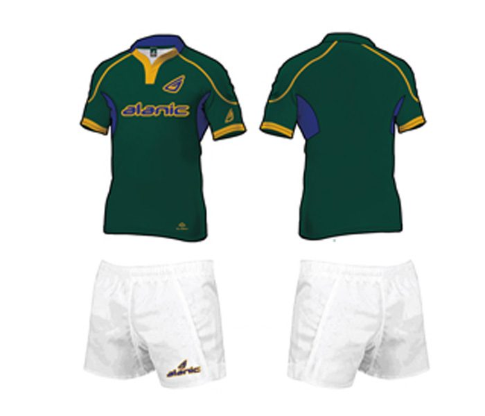 White and Green Rugby Shorts in UK and Australia