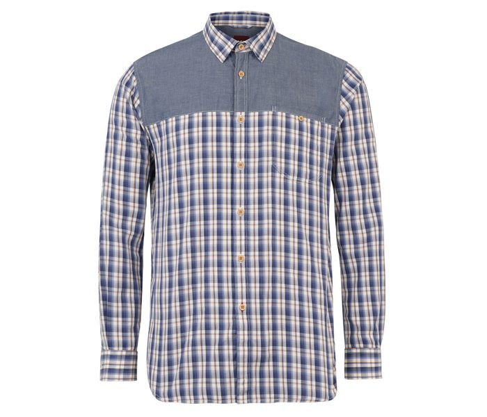 White and Grey Check with Plain panel Shirt in UK and Australia
